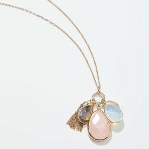 NWT, Stone Cluster Pendant Necklace